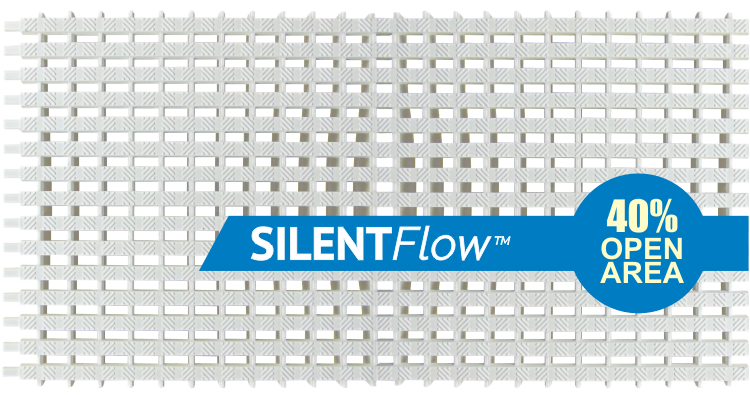 SILENTFlow™ commercial pool parallel grating system